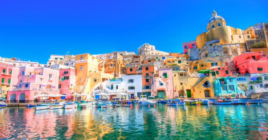 Ilha de Procida baia de Napoles Italia