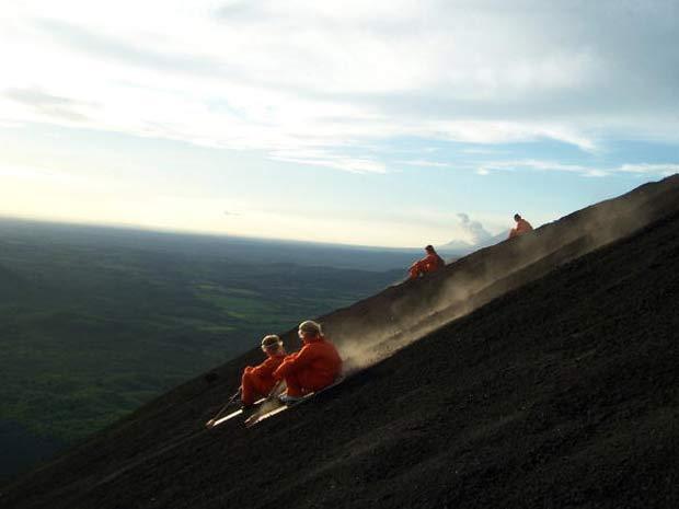 Sandboard no Cerro Negro